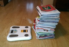 an impressive pile of junk mail