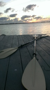 paddles-at-sunset